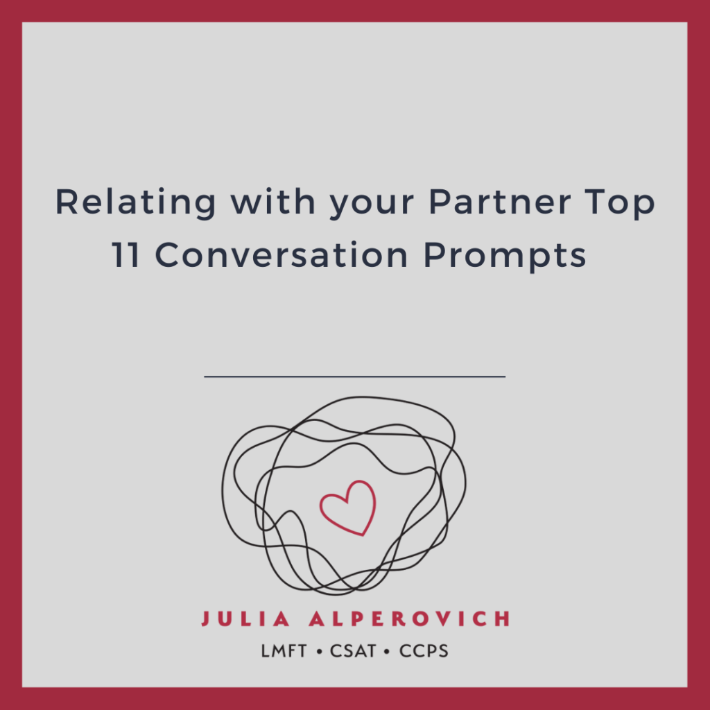Relating with your Partner 11 Conversation Prompts