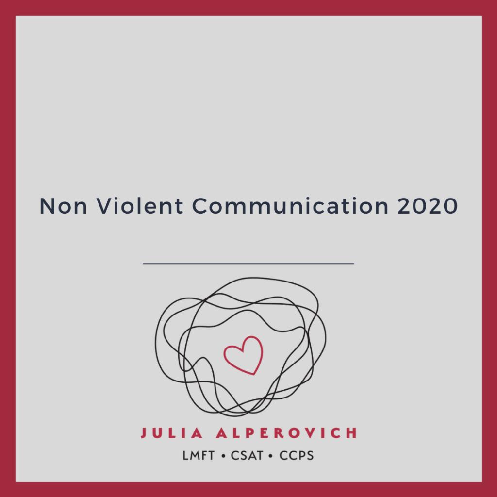 Non Violent Communication 2020